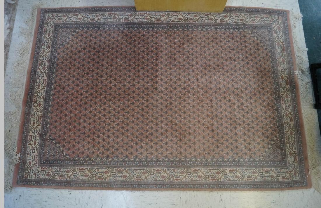 SEMI-ANTIQUE INDO CARPET. 4 X 6'