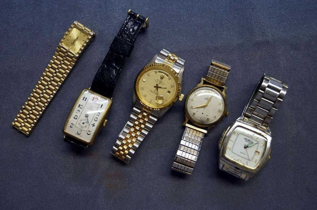 LOT (5) ASSORTED VINTAGE WRISTWATCHES INCLUDING (2)