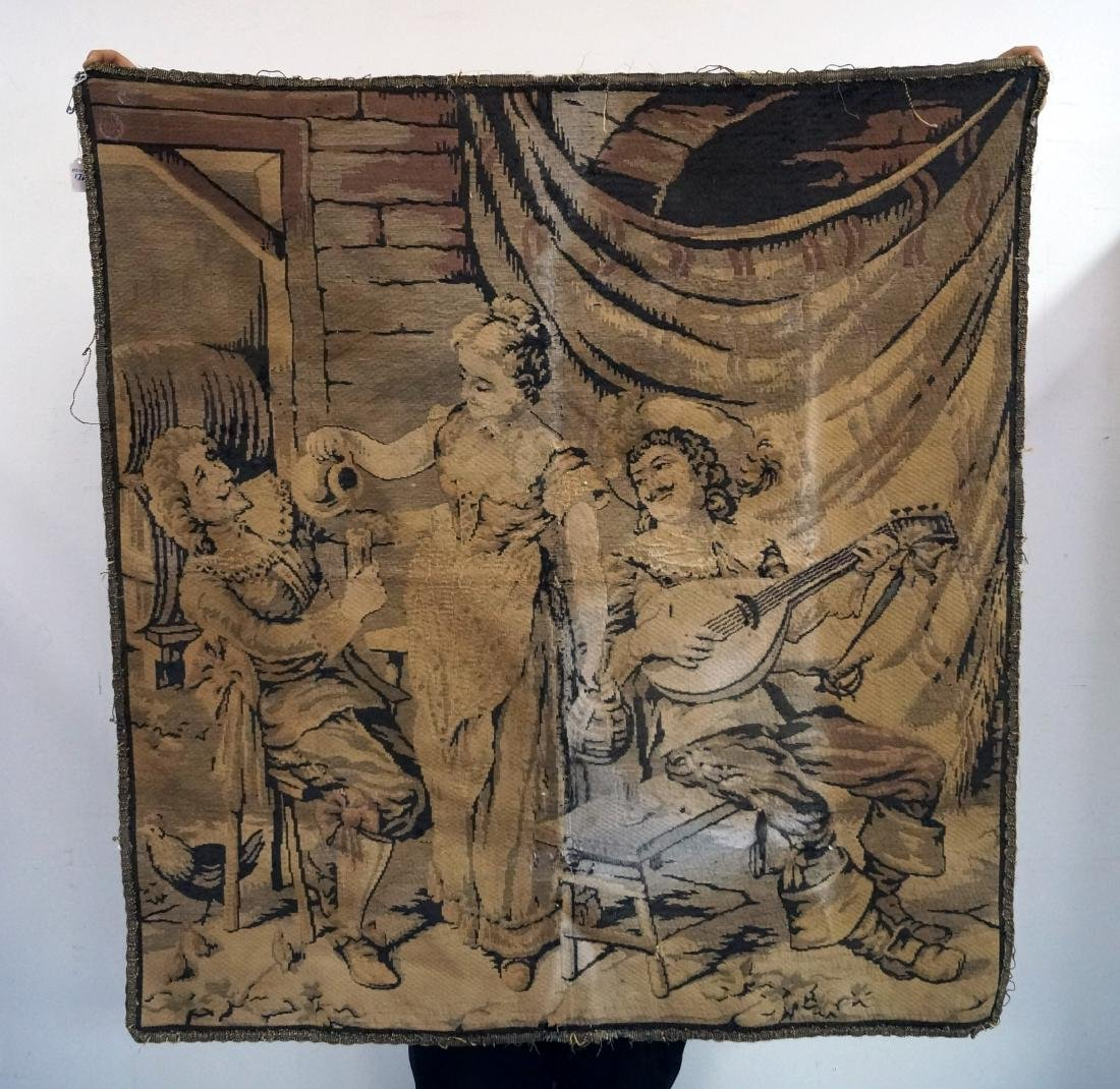 """ART DECO FRENCH TAPESTRY PANEL. 50 X 46"""""""
