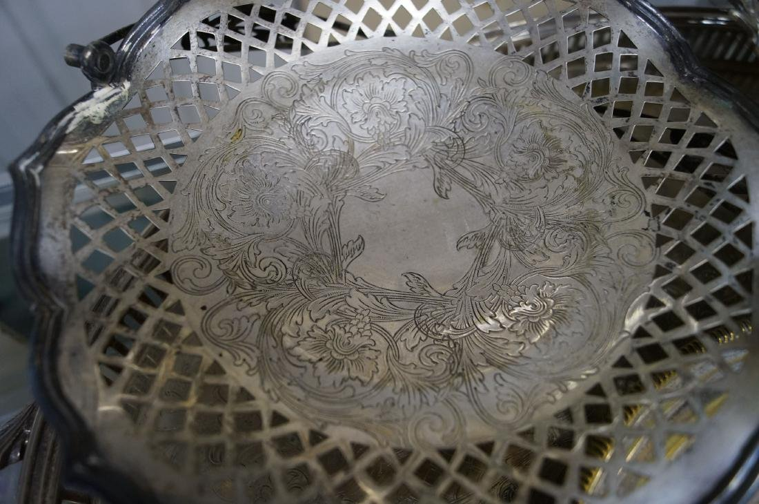 LOT (4) SILVER PLATE INCLUDING (2) BRIDE'S BASKETS, - 2