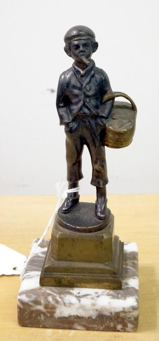 AMERICAN (19/20TH CENTURY), BRONZE, STREET URCHIN WITH