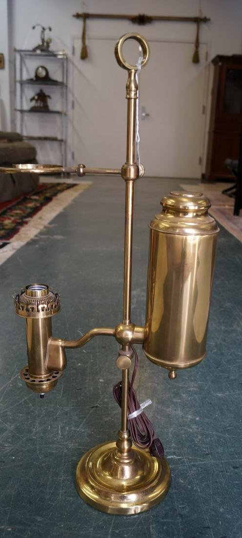 """BRASS STUDENT LAMP (NO SHADE). HEIGHT 25 1/2"""""""