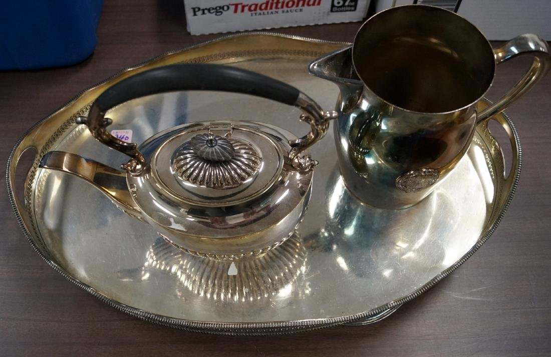 LOT (4) SILVER OVER COPPER PLATE INCLUDING TIFFANY &