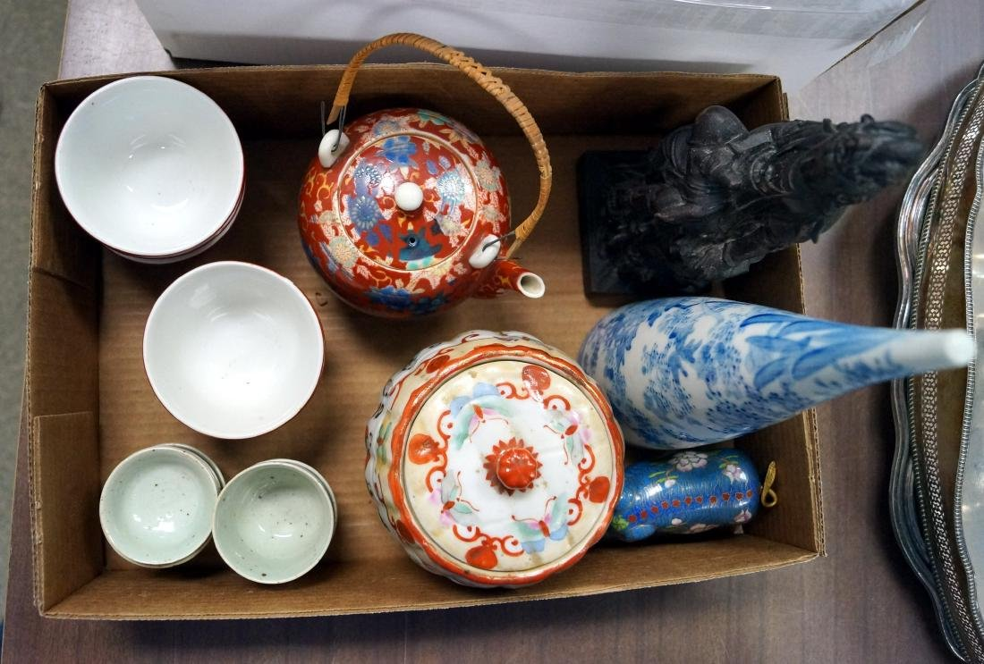 LOT ASSORTED CHINESE PORCELAIN WITH QUAN YEN