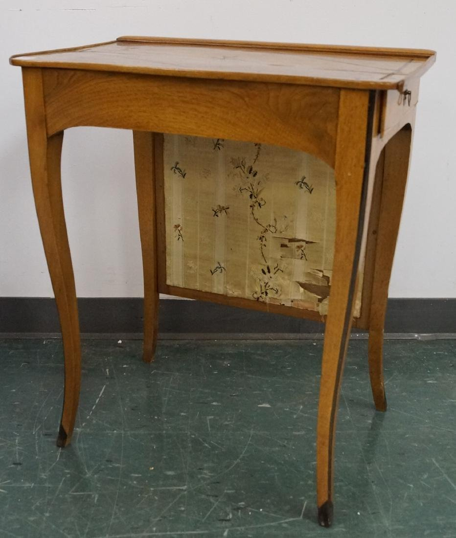 BIEDERMEIER STYLE INLAID MAHOGANY SIDE TABLE/FIRE