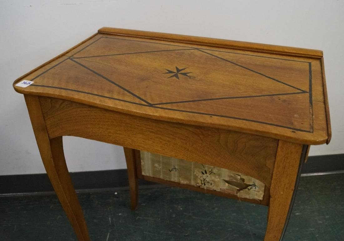 BIEDERMEIER STYLE INLAID MAHOGANY SIDE TABLE/FIRE - 2