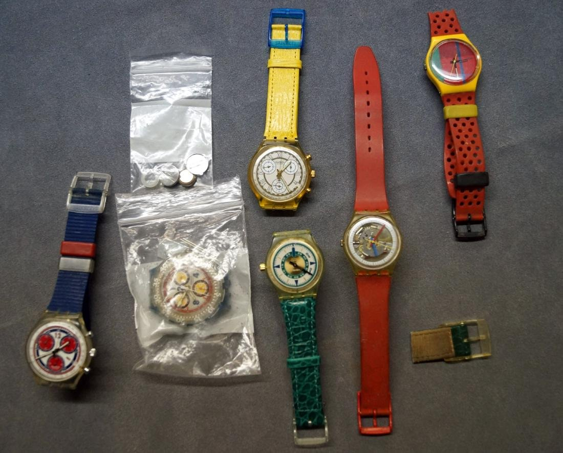 LOT (6) ASSORTED VINTAGE SWATCH WRISTWATCHES