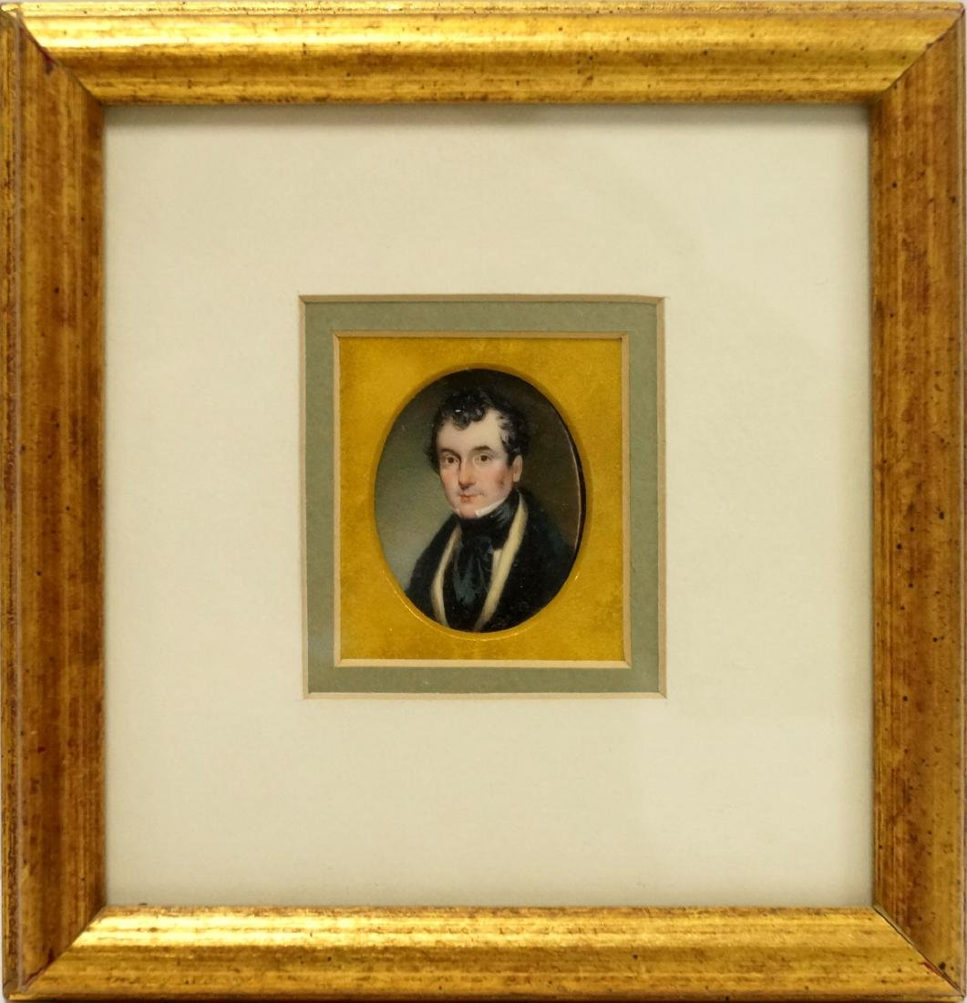 ENGLISH SCHOOL (19TH CENTURY), MINIATURE PORTRAIT OF A