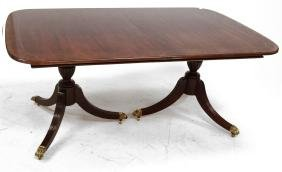 THOMASVILLE REGENCY STYLE CARVED AND INLAID MAHOGANY