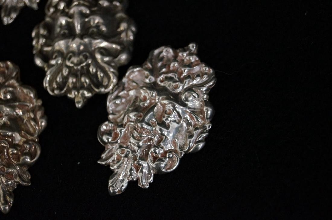 LOT (12) RENAISSANCE REVIVAL STYLE STERLING MASK - 2