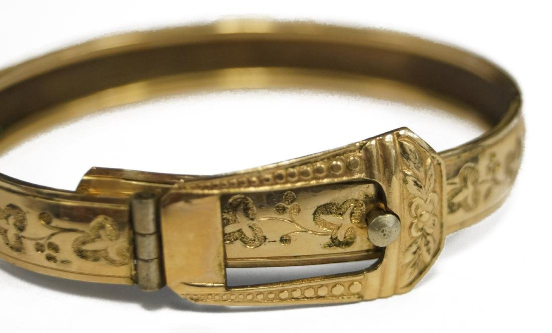 VICTORIAN GOLD FILLED CHILD'S BRACELET, SIGNED MARSH. - 2