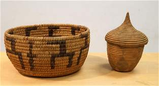 LOT 2 AMERICAN INDIAN BASKETS INCLUDING SOUTHWEST
