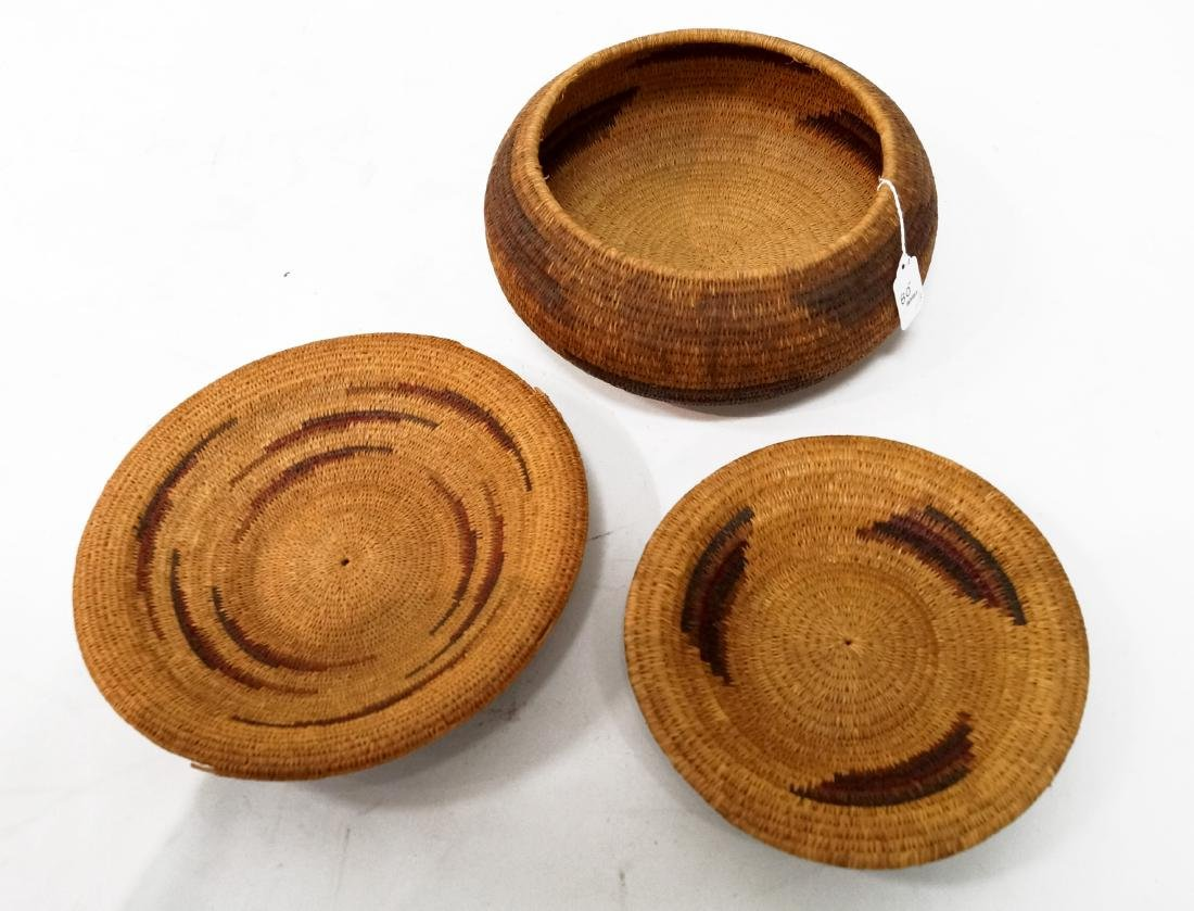 LOT (3) SOUTHWEST AMERICAN INDIAN BASKETS INCLUDING