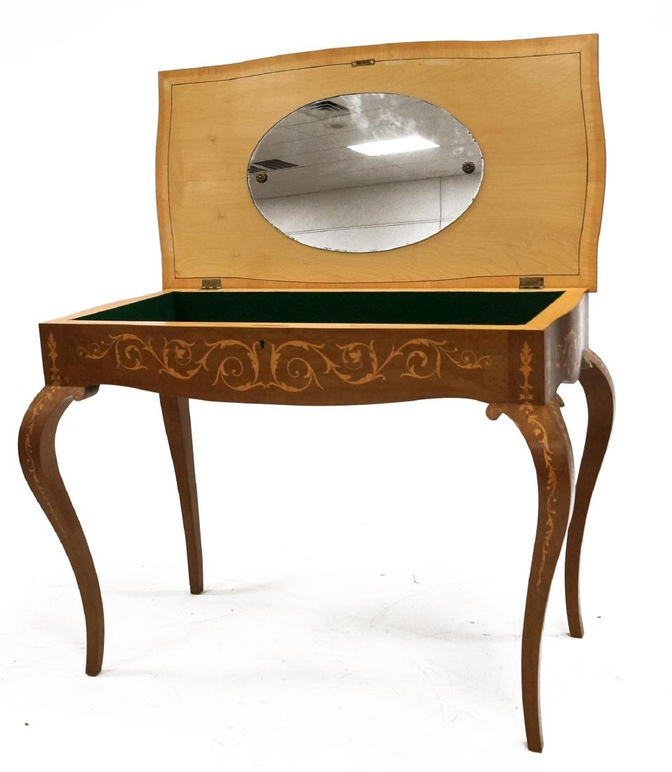 ITALIAN CARVED AND INLAID LIFT-TOP DRESSING TABLE. - 3