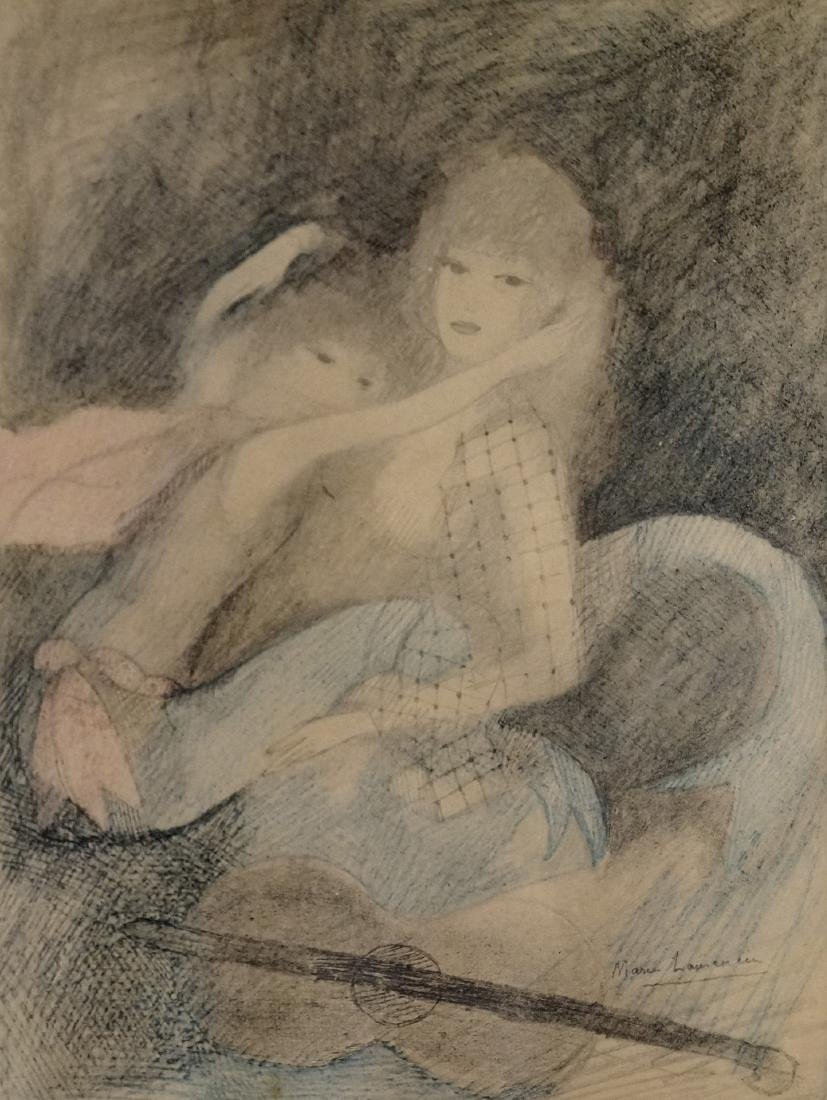 MARIE LAURENCIN (FRENCH 1883-1956), COLORED COLLOTYPE,