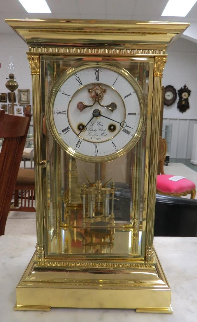 "THE LIBERTY CLOCK"" CRYSTAL REGULATOR BY L'EPEE FRANCE,"