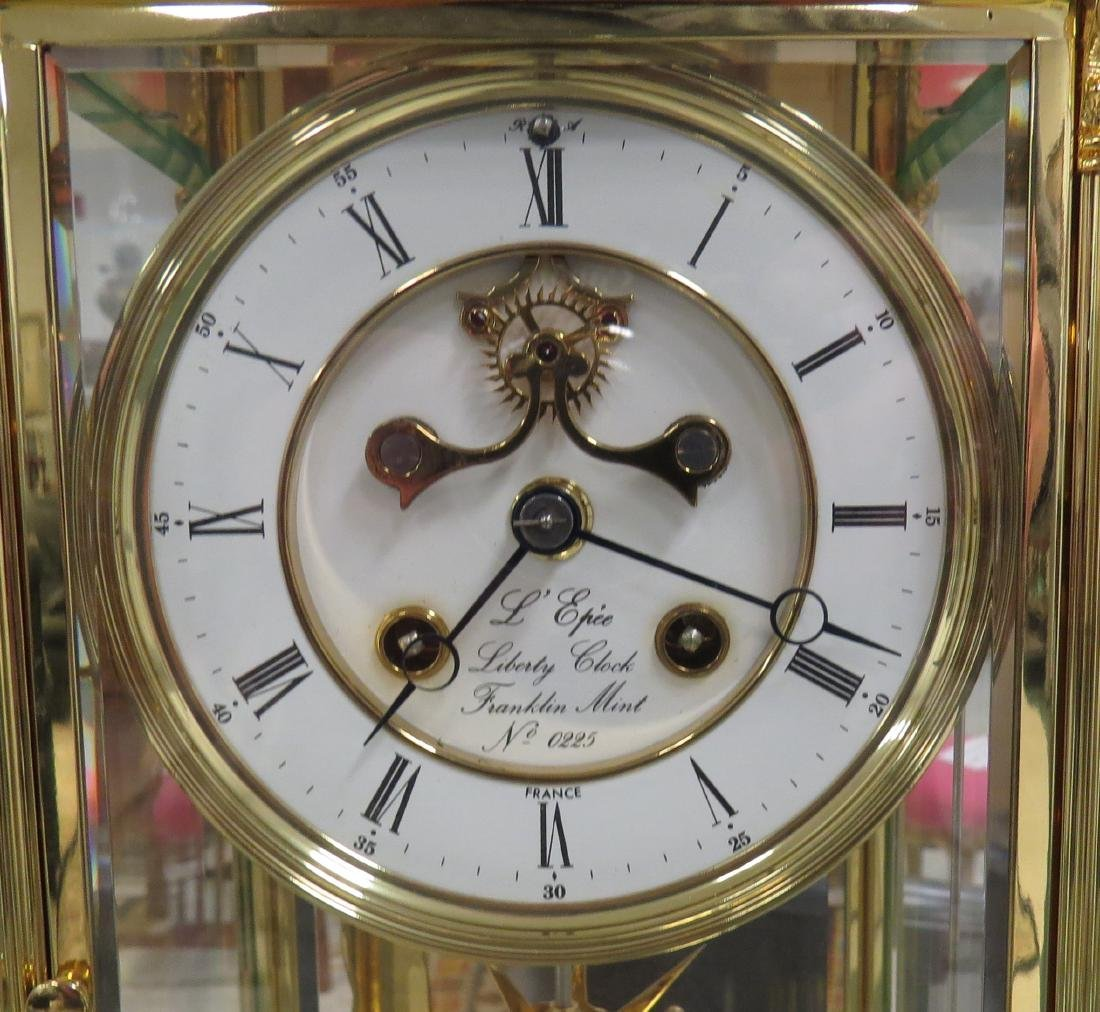 "THE LIBERTY CLOCK"" CRYSTAL REGULATOR BY L'EPEE FRANCE, - 2"