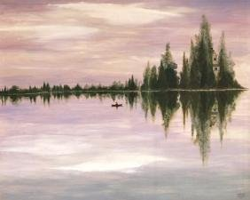 ANDREW BERISH (AMERICAN, 20TH CENTURY) OIL ON PANEL,