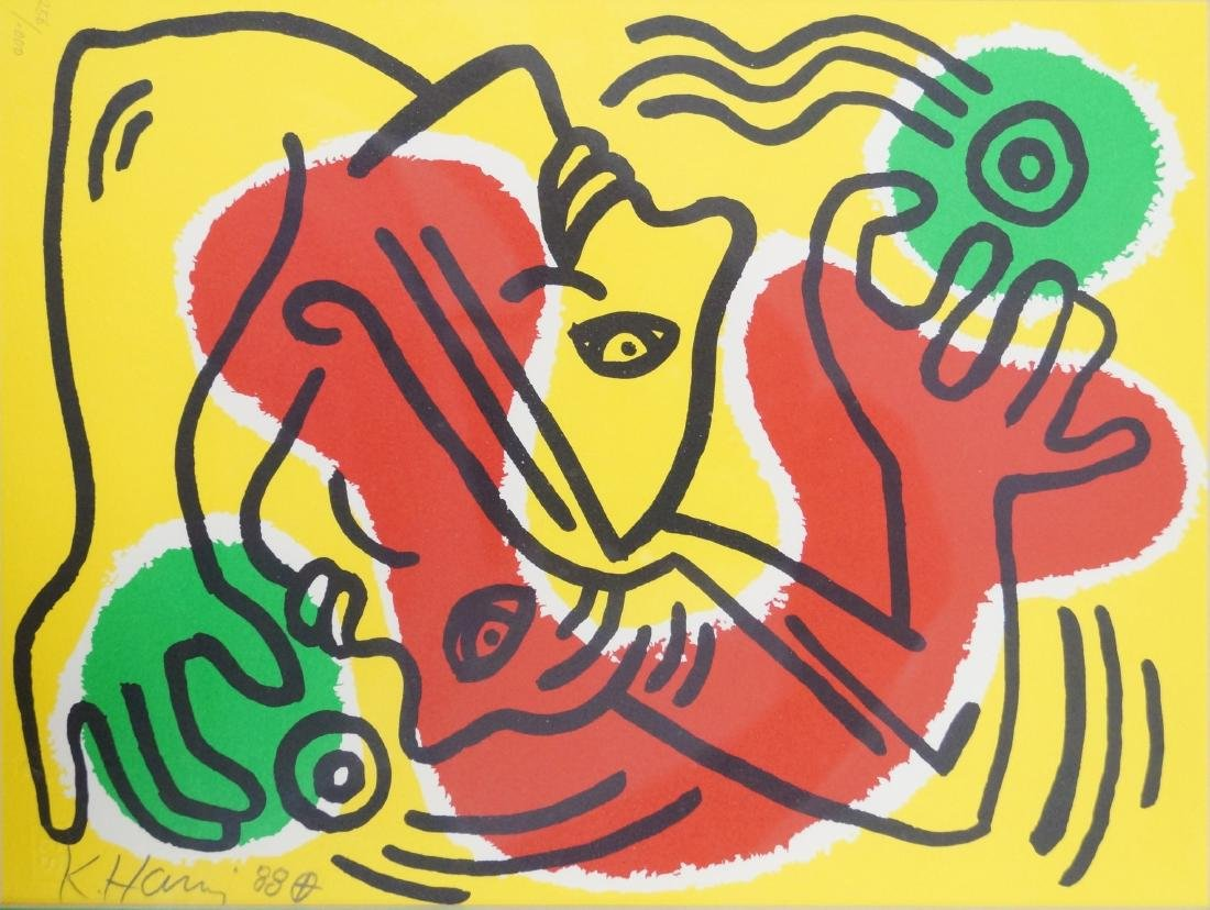 KEITH HARING (AMERICAN 1958-1990) LITHOGRAPH,