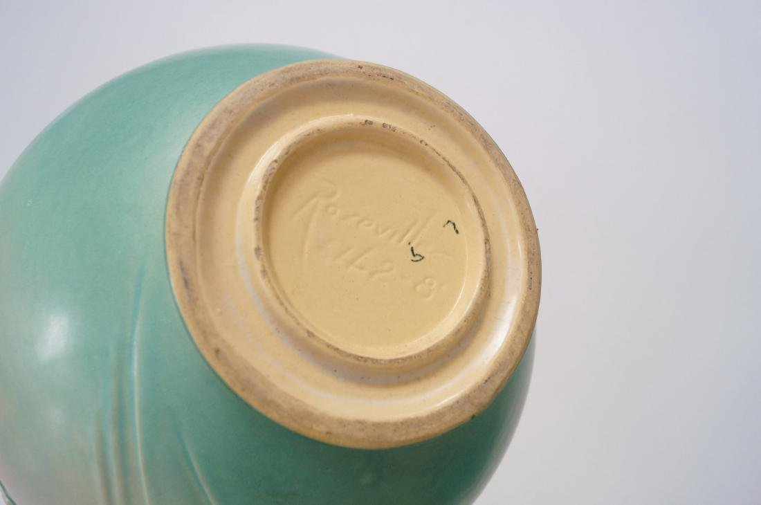 LOT (2) ROSEVILLE #642-8 POPPY JARDINIERE AND MATCHING - 2