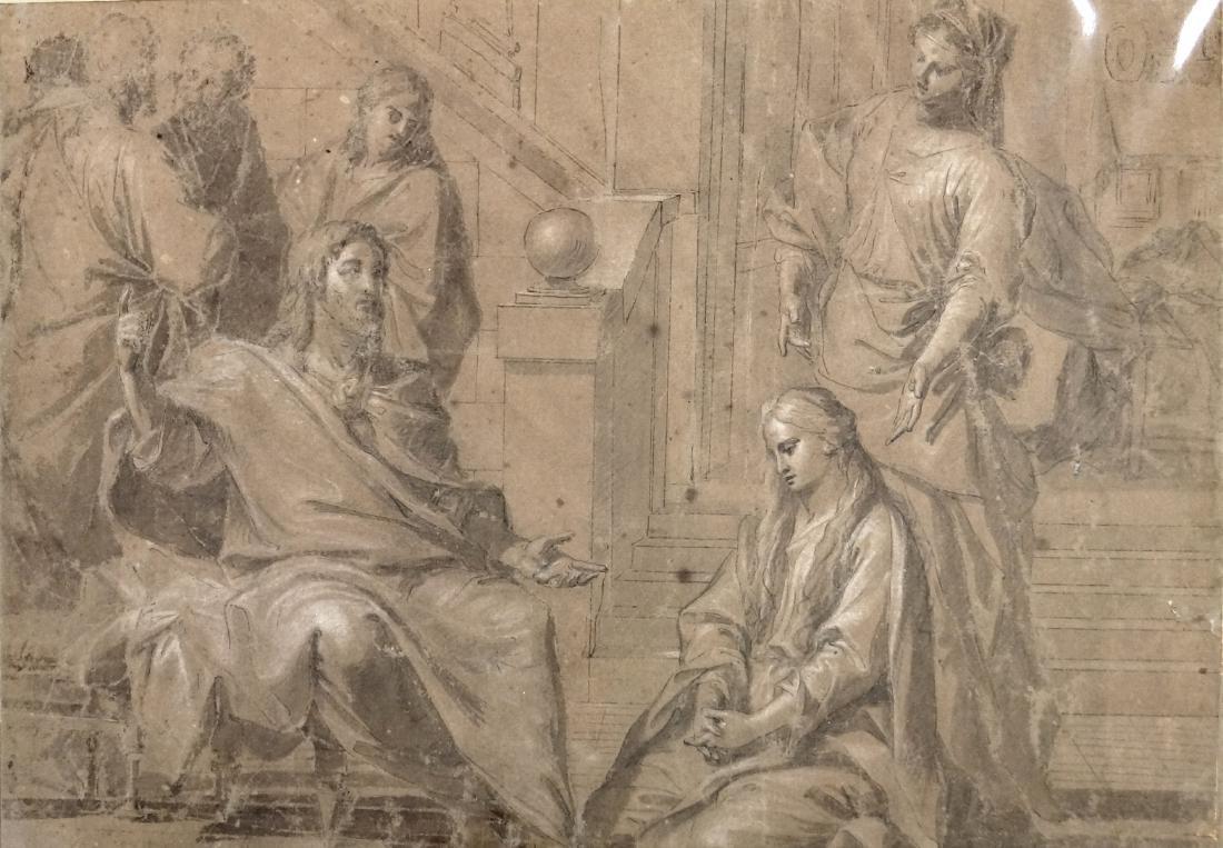 ITALIAN SCHOOL (BOLOGNA 18TH CENTURY), INK, GRAPHITE