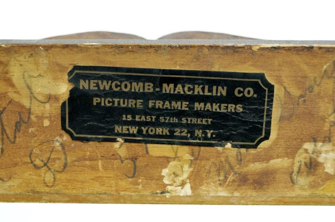 VINTAGE NEWCOMB-MACKLIN CARVED AND GILT FRAME, LABELED. - 3