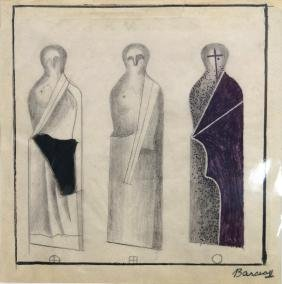 HUNGARIAN SCHOOL (20TH CENTURY), GRAPHITE AND INK ON
