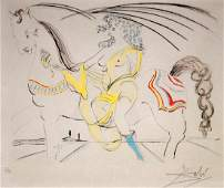 SALVADOR DALI SPAINFRENCH 19041989 ENGRAVING WITH