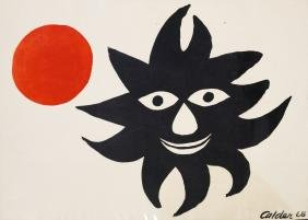"ALEXANDER CALDER (AMERICAN 1898-1976) LITHOGRAPH, ""RED"
