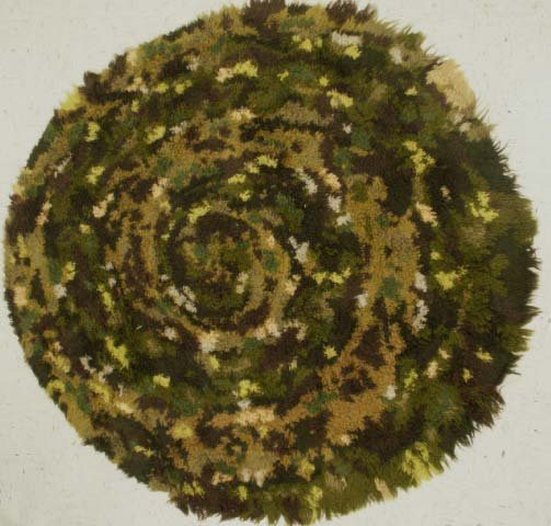 1003: SCANDINAVIAN ART MODERN ABSTRACT SHAG RUG