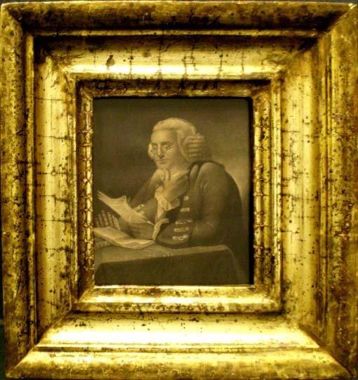 1024: EARLY COPPER PLATE ENGRAVING, BENJAMIN FRANKLIN