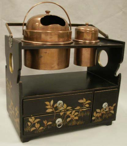 1073: JAPANESE LACQUER SMOKER'S CABINET