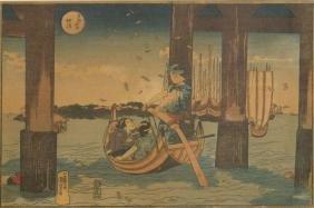 AFTER KUNIYOSHI UTAGAWA (JAPANESE 1797-1861), WOODBLOCK