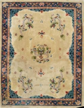 """CHINESE SCULPTED CARPET. 9'9"""" X 13'11"""""""