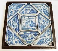 RARE CHINESE EXPORT CANTON PORCELAIN CONDIMENT SET, IN