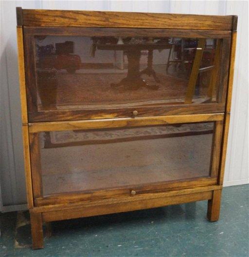 Antique Lundstrom Oak Stacking Barrister Bookcase