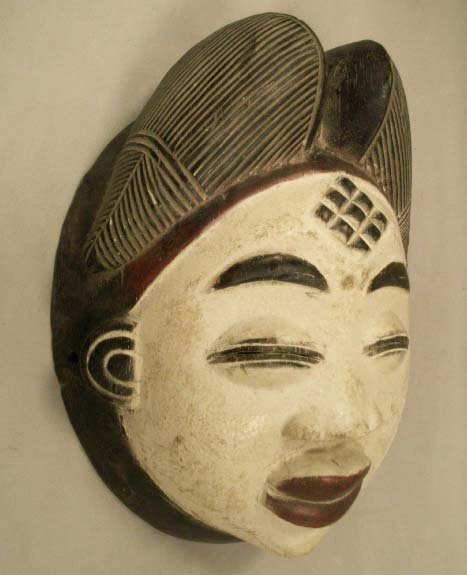 9: PUNU CARVED & PAINTED MASK