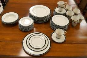 "GRACE ""ONYX"" DECORATED PORCELAIN DINNER SERVICE (52"