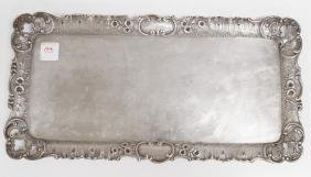 AUSTRIA-HUNGARY 800 SILVER RECTANGULAR SHAPE TRAY. 8 X