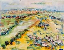 JEHUDITH SOBEL (POLAND 1924-2012), WATERCOLOR ON PAPER,
