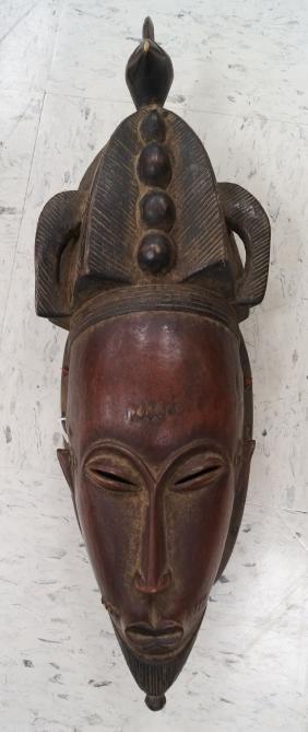 BAULE, IVORY COAST, CARVED ANCESTOR PORTRAIT MASK WITH