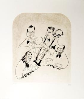 AL HIRSCHFELD (AMERICAN 1903-2006), ETCHING, BIG