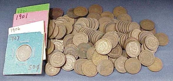 1008: LOT (146) ASSORTED INDIAN HEAD CENTS
