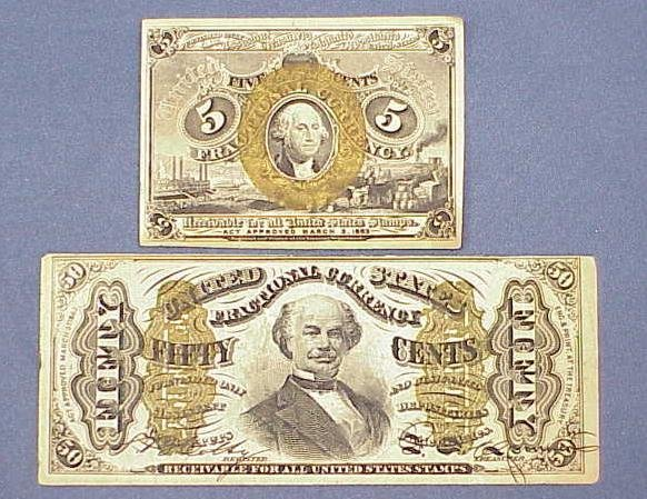 1017: (2) UNCIRCULATED FRACTIONAL CURRENCY