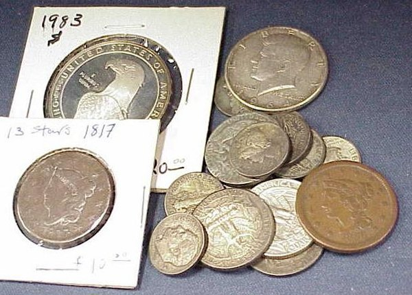 1019: LOT (18) ASSORTED U.S. COINS