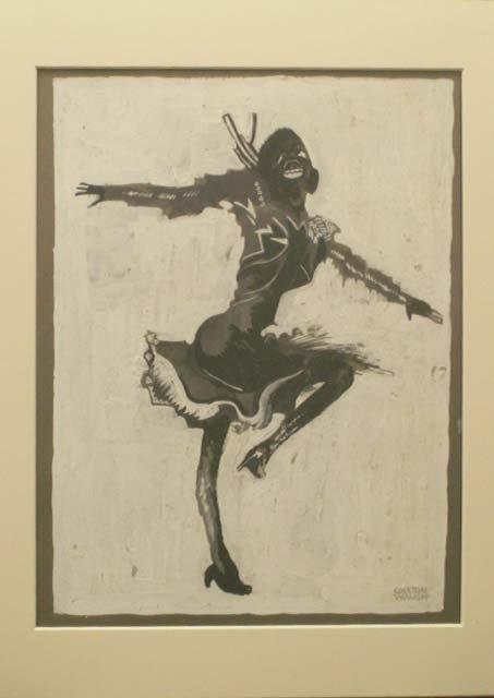 1002: INK/GOUACHE, JOSEPHINE BAKER, SIGNED COULTON WAUG