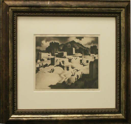 "1016: ETCHING, ""SOUTHWESTERN SUMMER"", SIGNED GENE KLOSS"