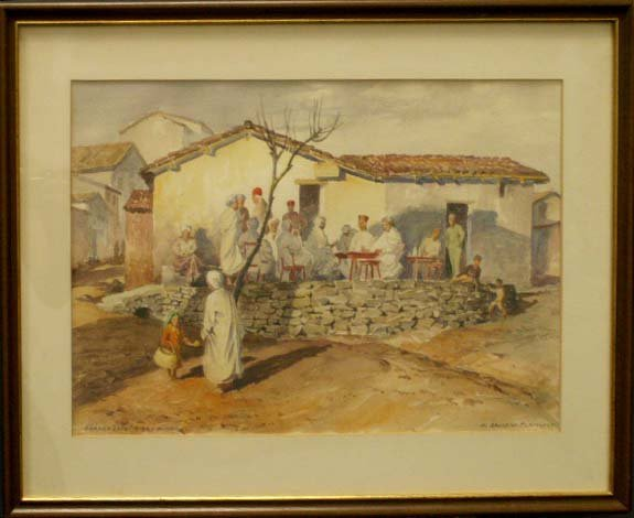 1020: WATERCOLOR, SIGNED/TITLED A. SHELDON PENNOYER