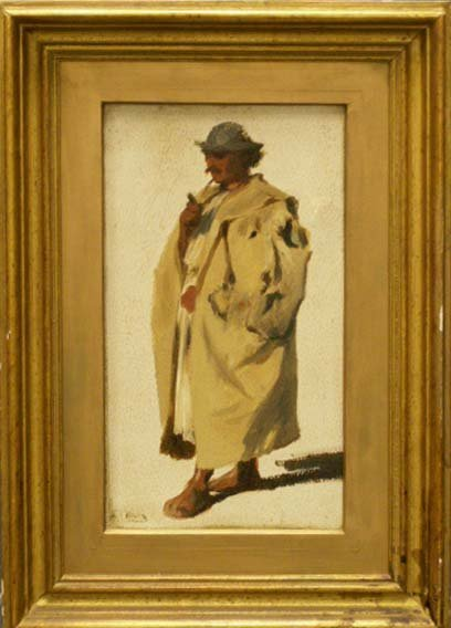 1024: OIL ON PAPER/LAID ON BOARD, SIGNED L.C. MULLER