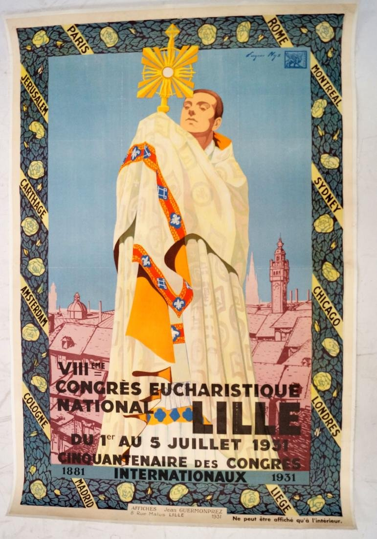 EUGENE NYS (FRENCH 20TH CENTURY) LITHOGRAPHIC POSTER,